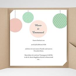 Hochzeitskarten Quadratisch - Pünktchen - 0