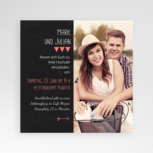 Hochzeitskarten Quadratisch - Puristisch 38360