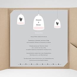 Hochzeitskarten Quadratisch - Glück zu Zweit - 0