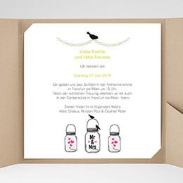 Hochzeitskarten Quadratisch - Motto Pink - 0