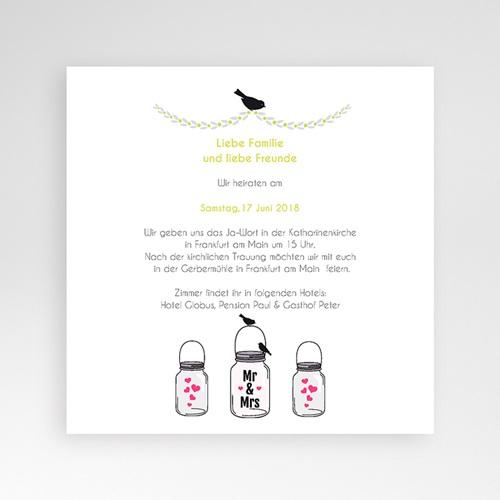 Hochzeitskarten Quadratisch - Motto Pink 38392