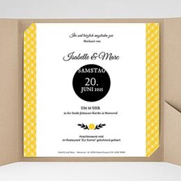 Hochzeitskarten Quadratisch - Yellow ! - 0