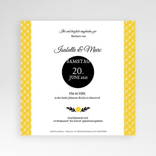 Hochzeitskarten Quadratisch - Yellow ! 38408