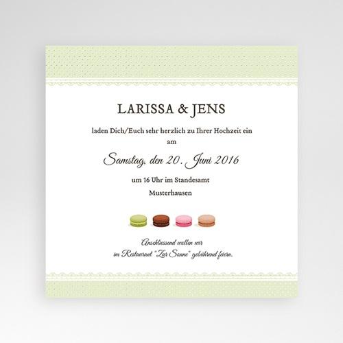Hochzeitskarten Quadratisch - Makrönchen 38416