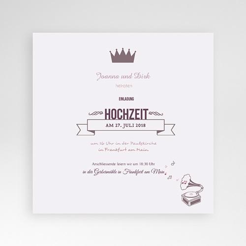 Hochzeitskarten Quadratisch - Zarte Töne 38436