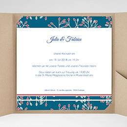 Hochzeitskarten Quadratisch - Aubusson Stil - 0