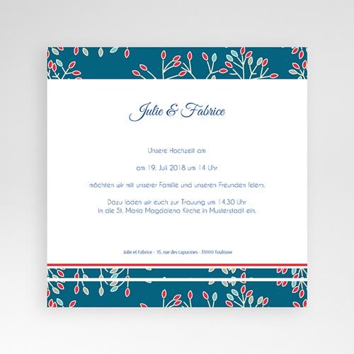 Hochzeitskarten Quadratisch - Aubusson Stil 38444