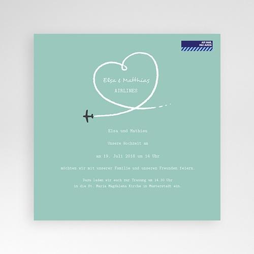 Hochzeitskarten Quadratisch - Flieg mit mir  38452