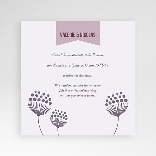 Hochzeitskarten Quadratisch - Violett 38460
