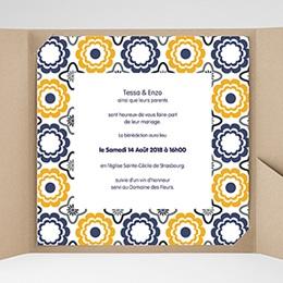 Hochzeitskarten Quadratisch - Azulejo - 0