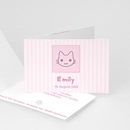 Geburtskarten für Mädchen - Kleines Kätzchen - 1