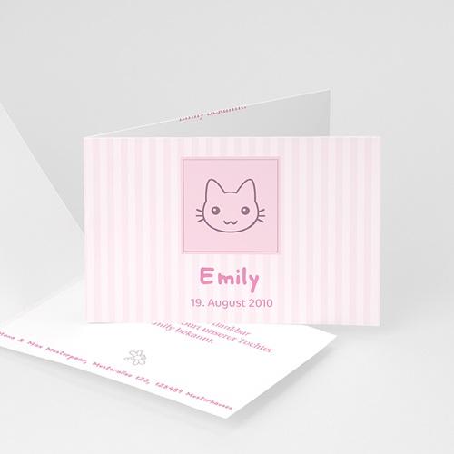 Geburtskarten für Mädchen - Geburtskarte Kleines Kätzchen 1 3848