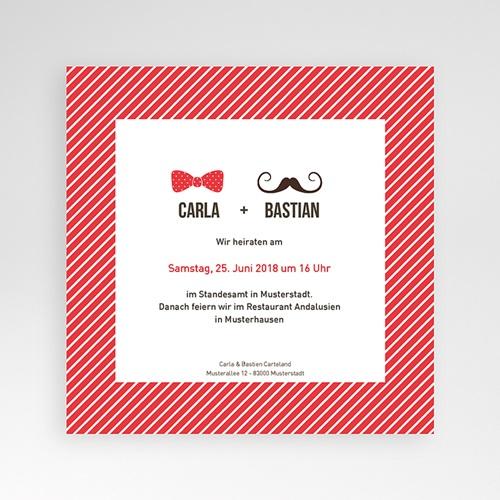 Einladungskarten Hochzeit -Madame und Monsieur  05125