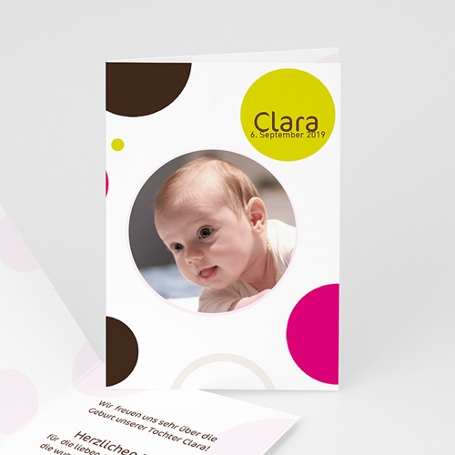 Geburtskarten für Mädchen - Luftblasen  3860