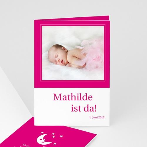 Geburtskarten für Mädchen - Geburtskarte Sonne, Mond und Sterne 1 3868