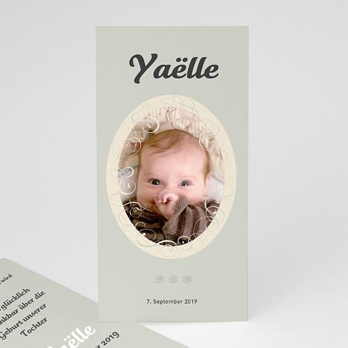 Geburtskarten für Mädchen - Geburtskarte Retro-Style 3876
