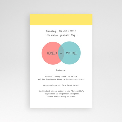 Hochzeitskarten Querformat - Pastell 38868