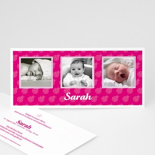 Geburtskarten für Mädchen - Marienkäfer  3892