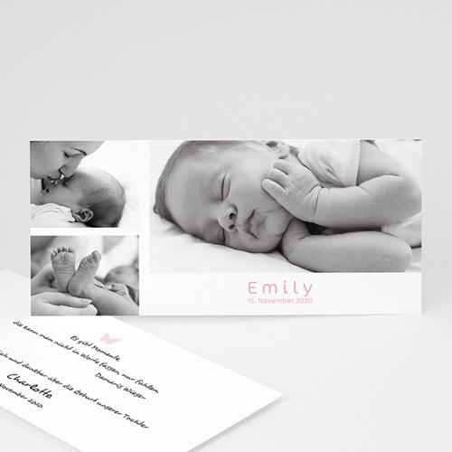 Geburtskarten für Mädchen - Fotokarte in allen Farben 3900