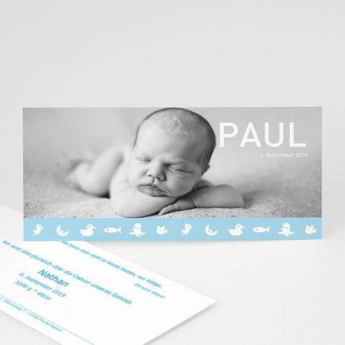 Babykarten für Jungen - Geburtskarte Paul 1 3904