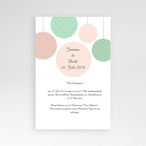 Hochzeitskarten Querformat - Pünktchen 39044