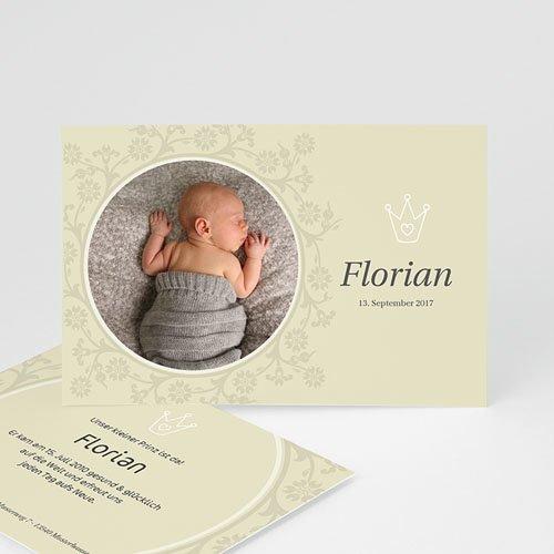 Geburtskarten für Mädchen - Geburtskarte Der kleine Prinz 3 3912