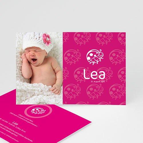 Geburtskarten für Mädchen - Geburtskarte Marienkäfer 3916