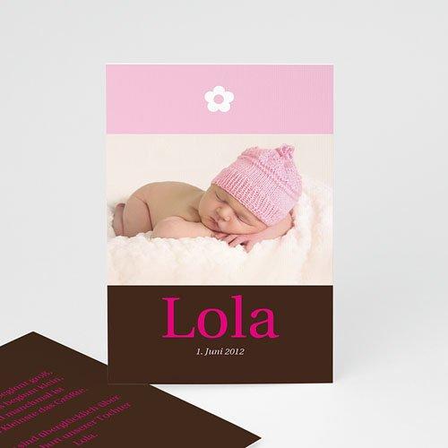 Geburtskarten für Mädchen - Geburtskarte Blumendesign 2 3924