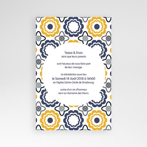 Hochzeitskarten Querformat - Azulejo 39276