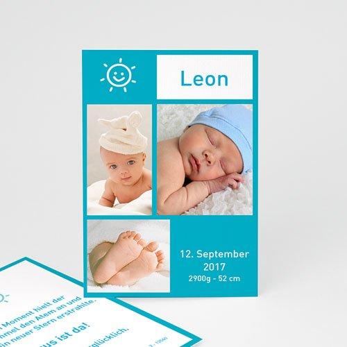 Babykarten für Jungen - Miniaturfotos Blau 3928