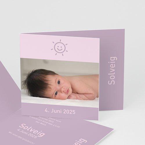 Geburtskarten für Mädchen - Unser Sonnenschein 3944