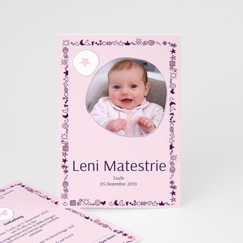 Geburtskarten für Mädchen - Geburtskarte Sonne, Mond und Sterne 3948