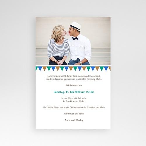 Hochzeitskarten Querformat - Mosaikdesign 39504