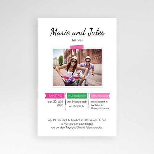 Hochzeitskarten Querformat - Pop Charme 39528