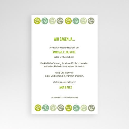Hochzeitskarten Querformat - Green Wedding 39544