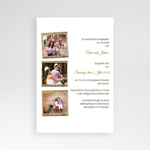Hochzeitskarten Querformat - Ambiente Boho  39576