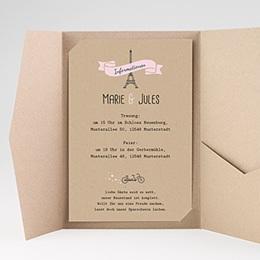 Hochzeitskarten Querformat - Love in Paris - 0