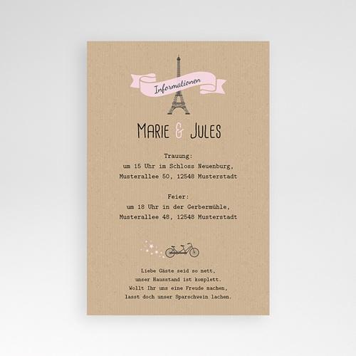 Hochzeitskarten Querformat - Love in Paris 39584