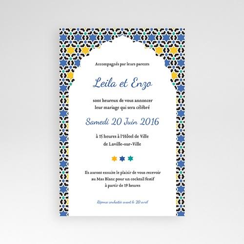 Hochzeitskarten Querformat - Marrakesch 39596
