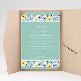 Hochzeitskarten Querformat - Blumendeko - 0