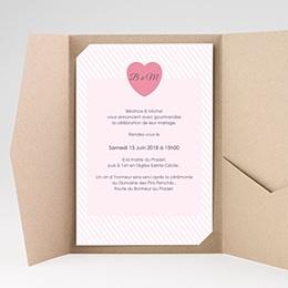Hochzeitskarten Querformat - Rose Bonbon - 0