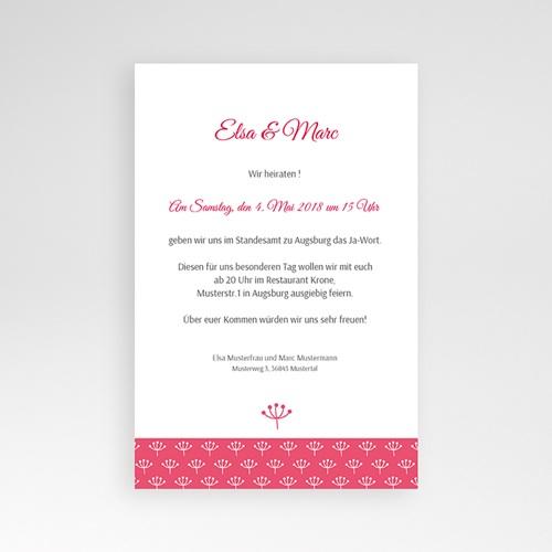 Hochzeitskarten Querformat - Himbeerfarben 39636