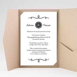 Hochzeitskarten Querformat - Schlichte Eleganz - 0
