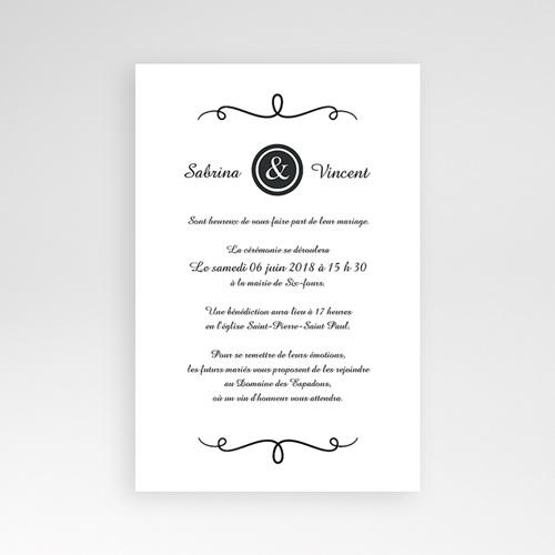 Hochzeitskarten Querformat - Schlichte Eleganz 39644