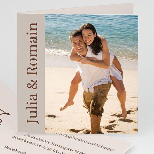 Hochzeitseinladungen modern - Hochzeitskarte Herz pur 3968