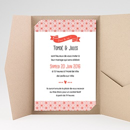 Hochzeitskarten Querformat - Origami - 0