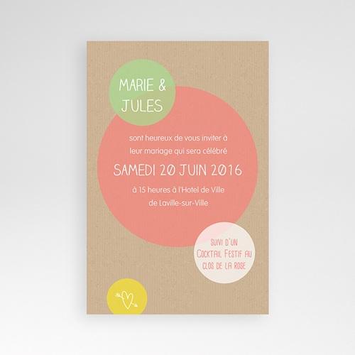 Hochzeitskarten Querformat - Kreisförmig 39708