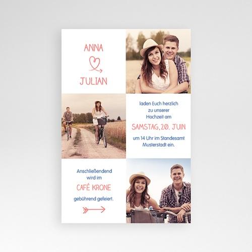 Hochzeitskarten Querformat - Verspielt 39716