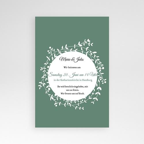 Hochzeitskarten Querformat - Diadem 39724