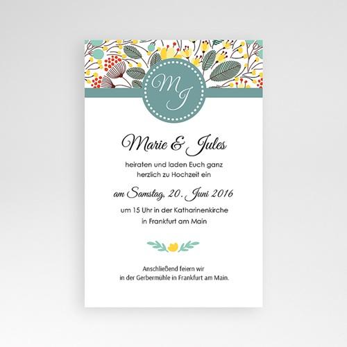 Hochzeitskarten Querformat - Frühlingswiese 39732